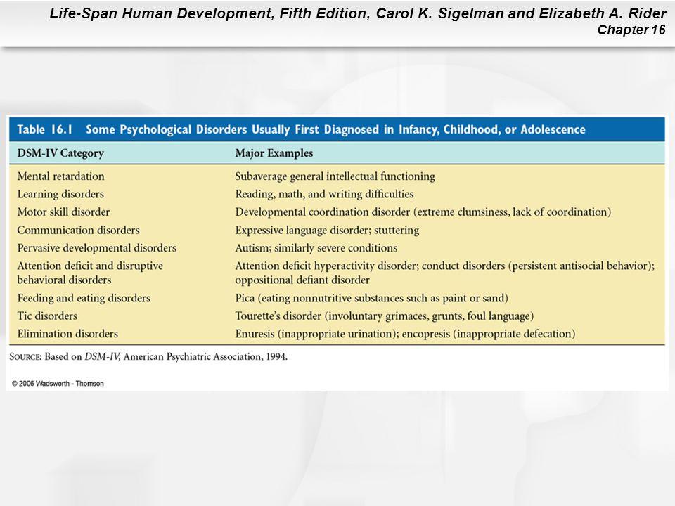 Life-Span Human Development, Fifth Edition, Carol K. Sigelman and Elizabeth A. Rider Chapter 16