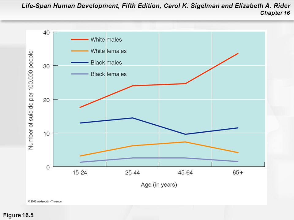 Life-Span Human Development, Fifth Edition, Carol K. Sigelman and Elizabeth A. Rider Chapter 16 Figure 16.5