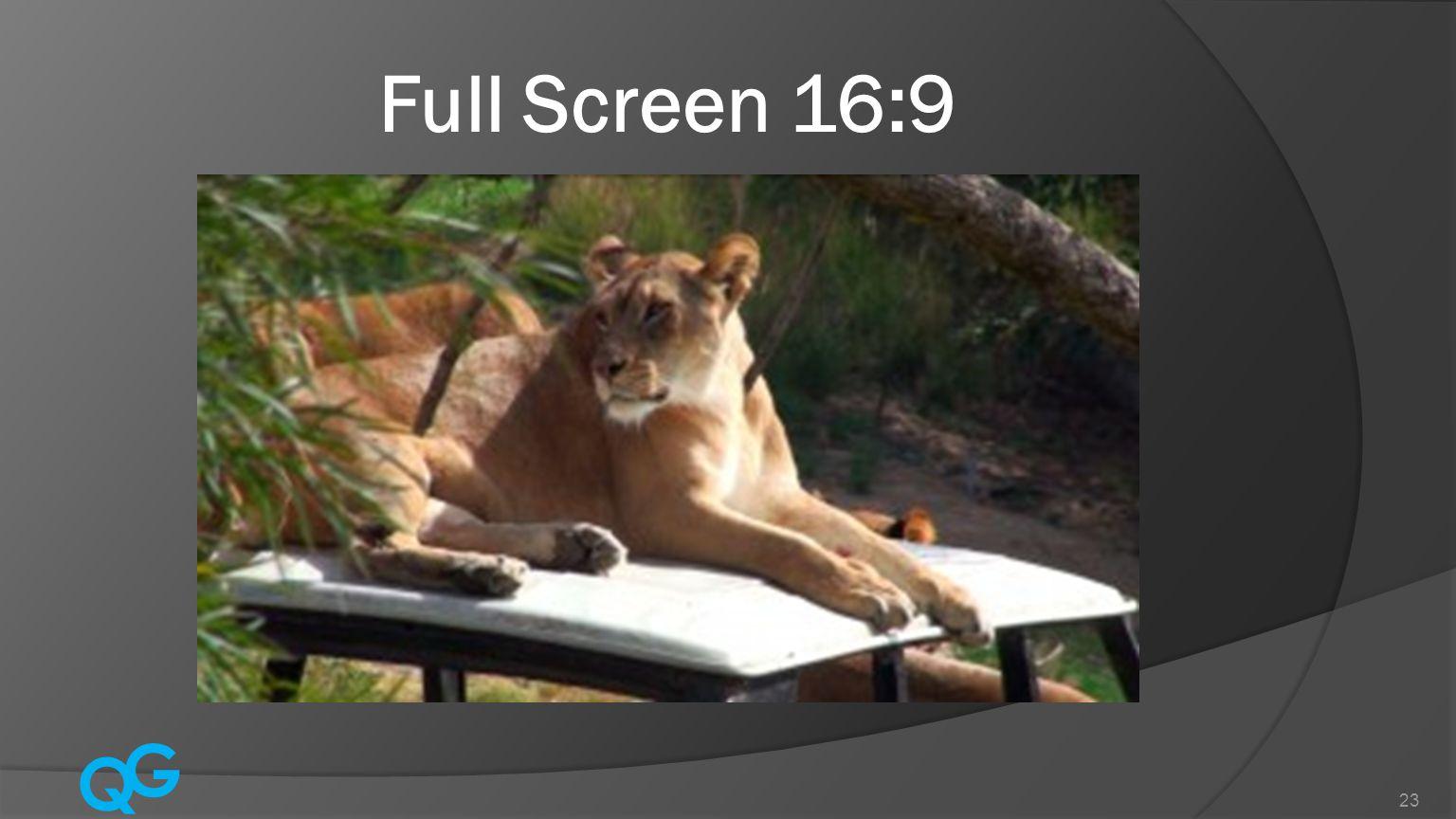 Q G 23 Full Screen 16:9