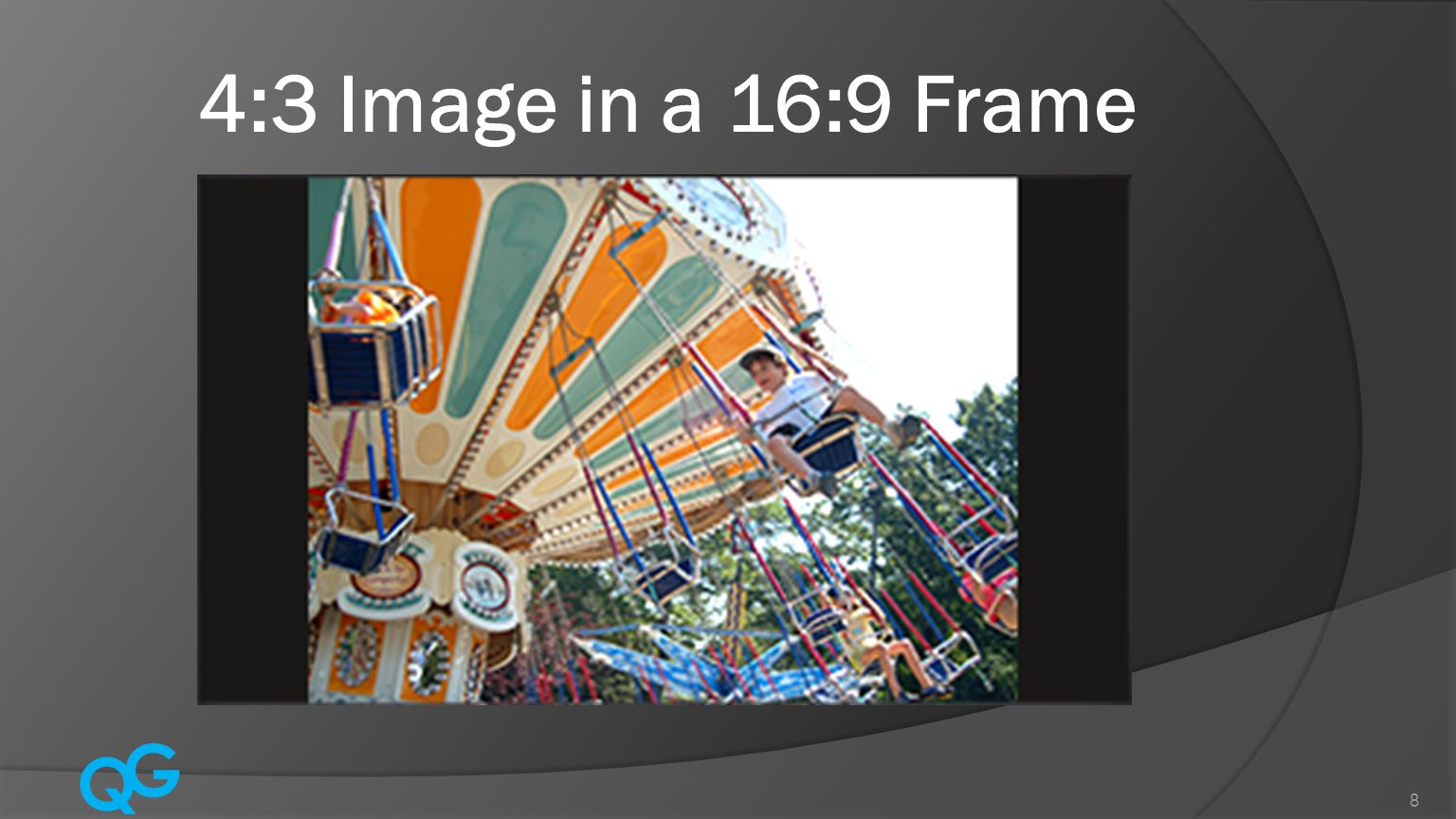 Q G 8 4:3 Image in a 16:9 Frame
