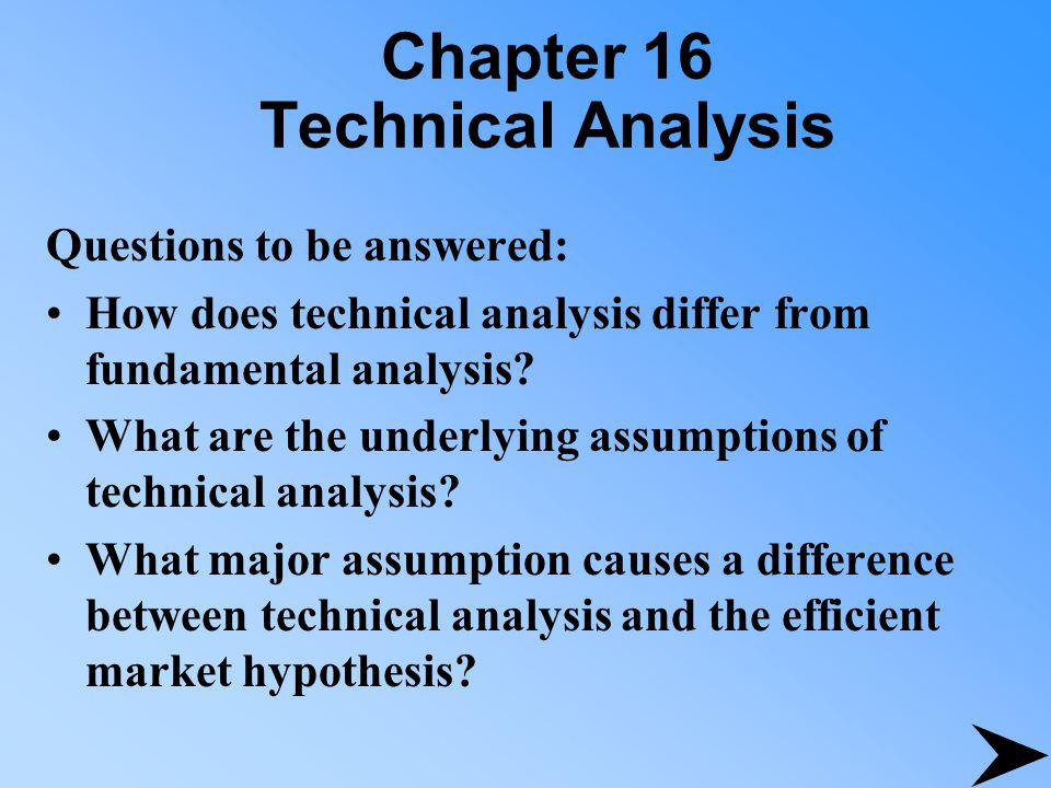 Chapter 16 Technical Analysis What are the major advantages of technical analysis compared to fundamental analysis.