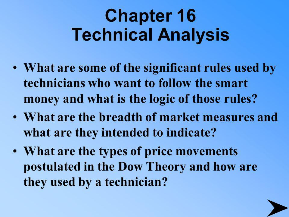 Chapter 16 Technical Analysis Why do technicians consider the volume of trading important and how do they use it in their analysis.