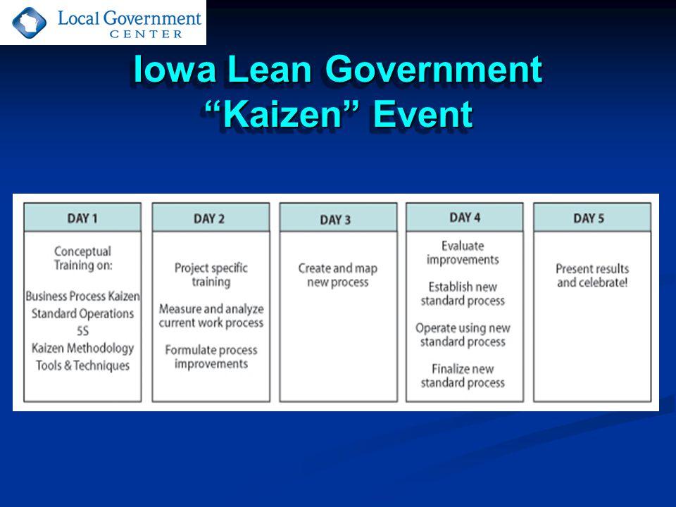 Iowa Lean Government Kaizen Event