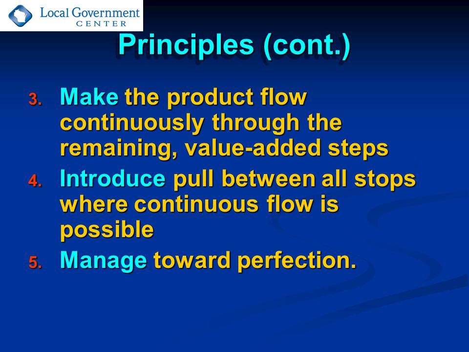Principles (cont.) 3.