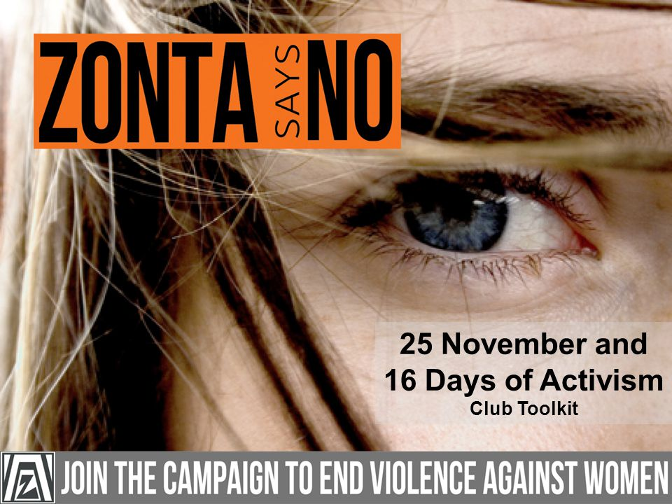25 November and 16 Days of Activism Club Toolkit