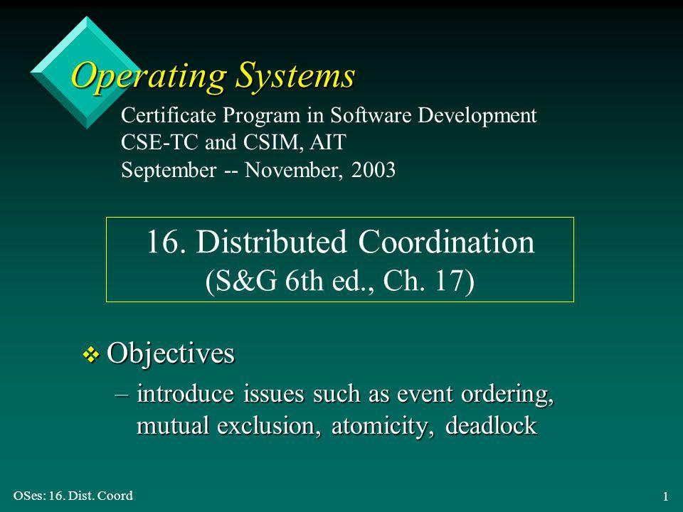 OSes: 16. Dist.