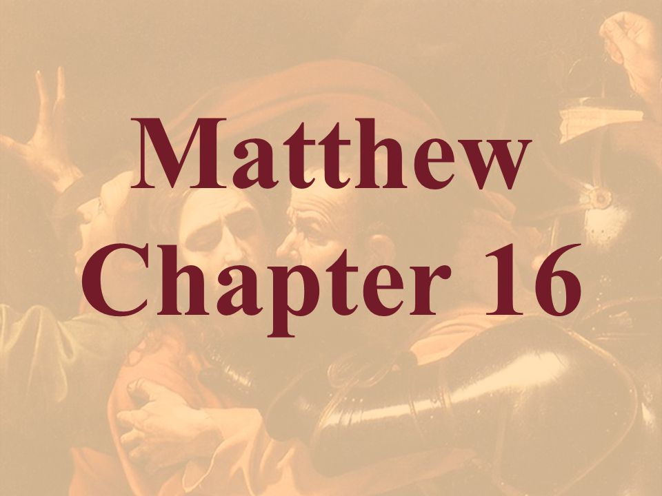 Matthew 16:12 Then understood they how that he bade them not beware of the leaven of bread, but of the doctrine of the Pharisees and of the Sadducees.