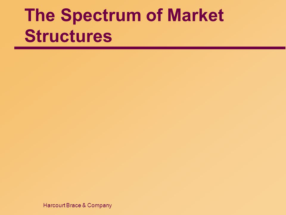 Harcourt Brace & Company The Spectrum of Market Structures
