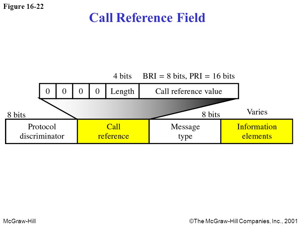 McGraw-Hill©The McGraw-Hill Companies, Inc., 2001 Figure 16-22 Call Reference Field