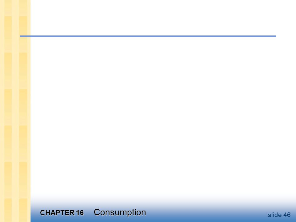 CHAPTER 16 Consumption slide 46