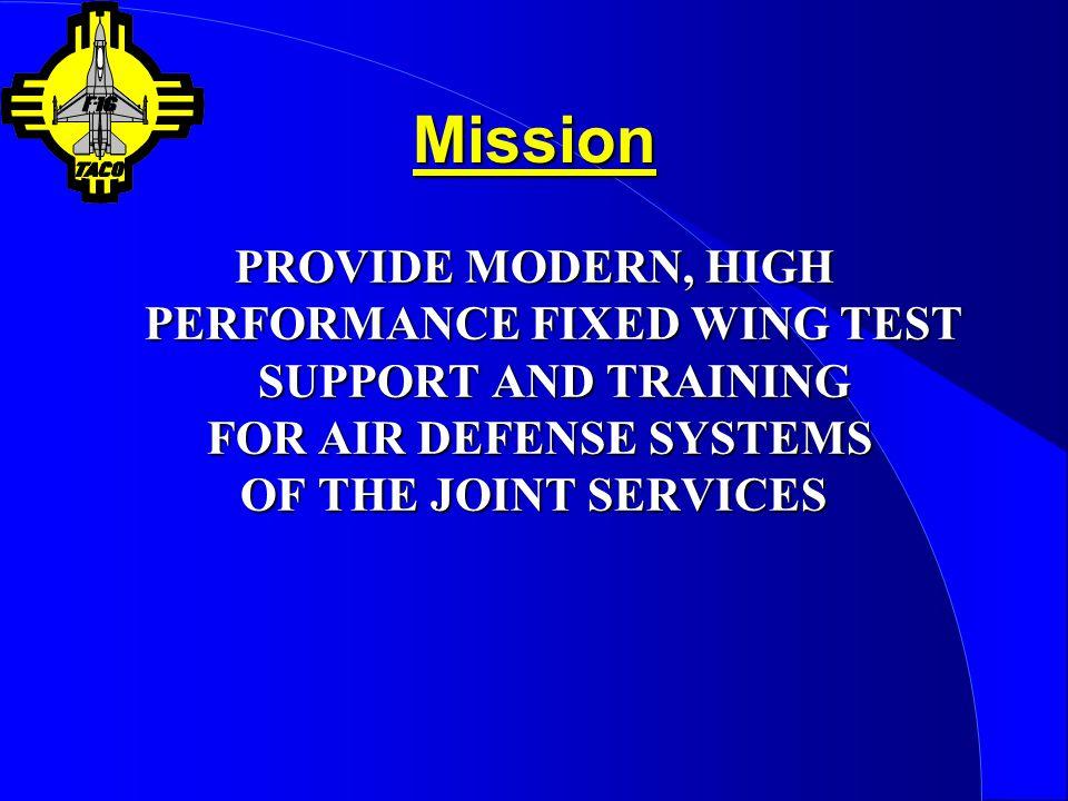 AQM-37 (Cont)  Facilities Utilized Barking Sands PMRF, HI Barking Sands PMRF, HI Point Mugu NAS, CA Point Mugu NAS, CA Kirtland AFB, NM Kirtland AFB, NM Wallops Flight Facility, VA Wallops Flight Facility, VA  Range Requirements 50,000ft / 1.5 Mach = 50 NM, 4.0 Min 50,000ft / 1.5 Mach = 50 NM, 4.0 Min Cont Fuel (Hold ~15 min / Abort) Cont Fuel (Hold ~15 min / Abort)