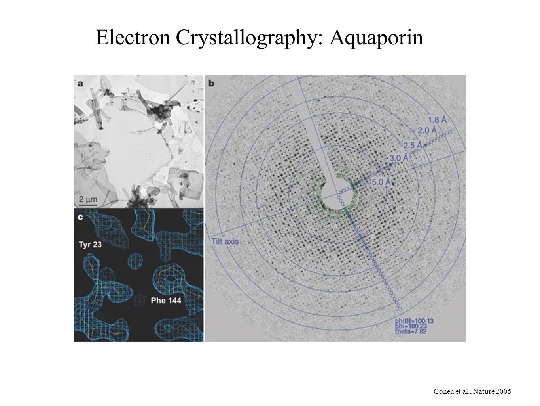 Electron Crystallography: Aquaporin Gonen et al., Nature 2005