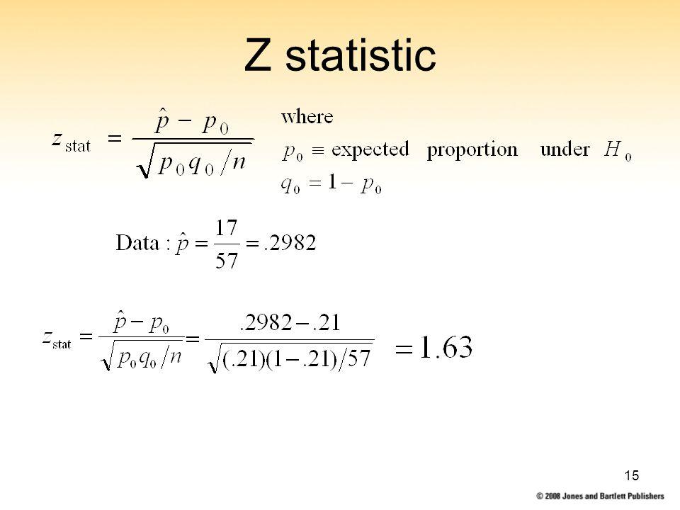 15 Z statistic