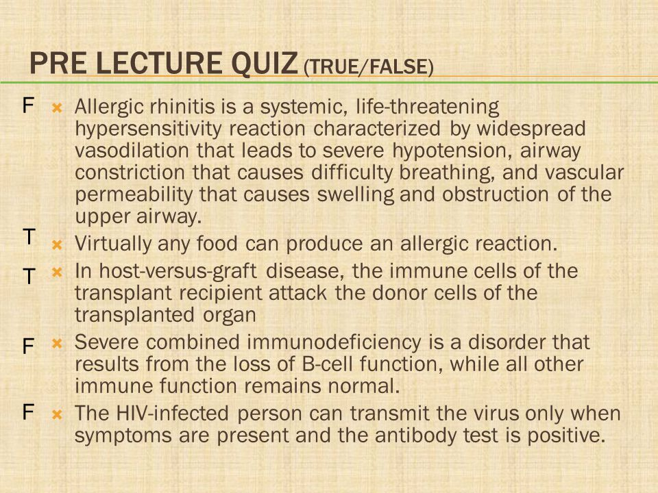 PRE LECTURE QUIZ  Type __________ hypersensitivity responses result from immune responses to exogenous and endogenous antigens that produce inflammation and cause tissue damage.