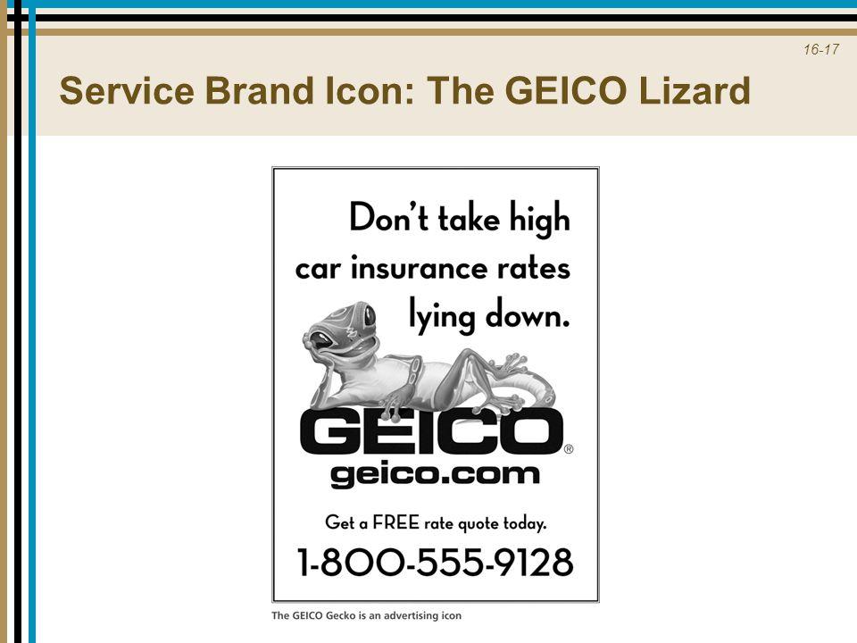 16-17 Service Brand Icon: The GEICO Lizard