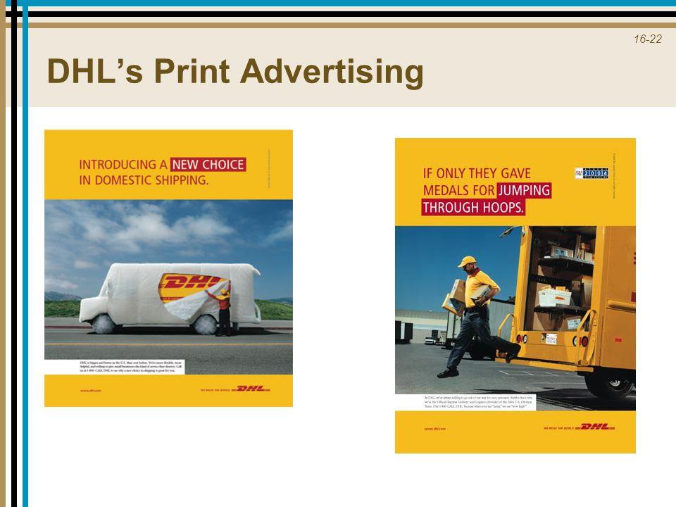16-22 DHL's Print Advertising