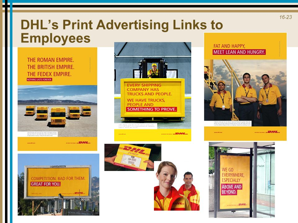 16-23 DHL's Print Advertising Links to Employees