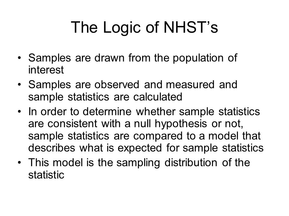 Sampling Distributions Sampling distributions allow us to make probability statements in inferential statistics.