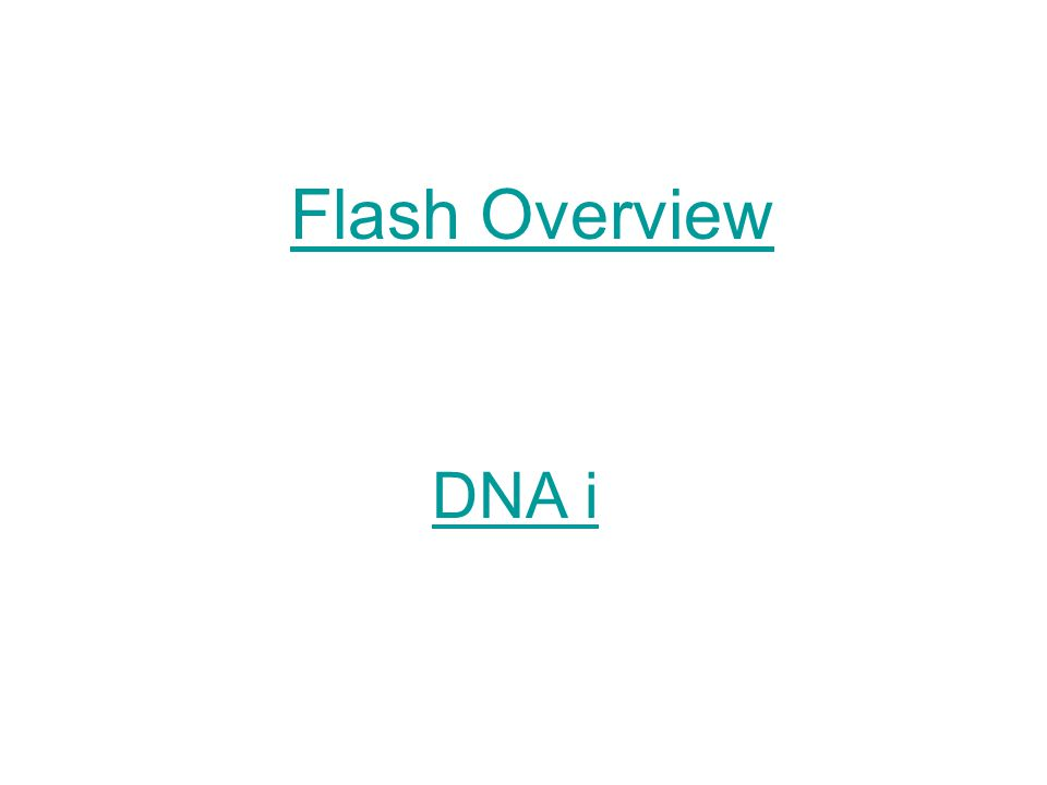 DNA i Flash Overview