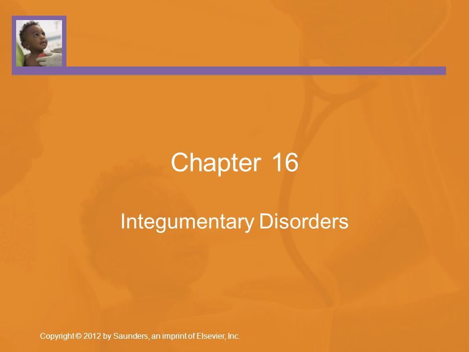 Chapter 16 Integumentary Disorders Copyright © 2012 by Saunders, an imprint of Elsevier, Inc.