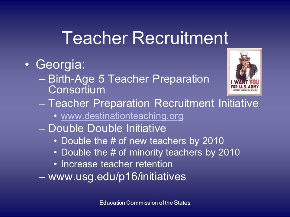 Education Commission of the States Georgia Educator Preparation Program Improvement