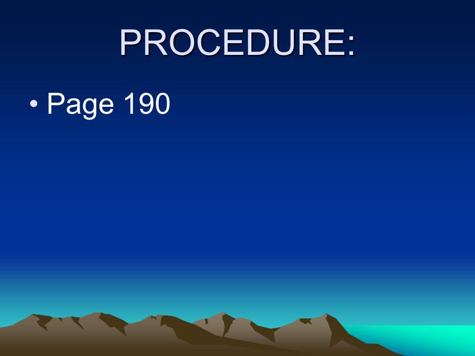 PROCEDURE: Page 190