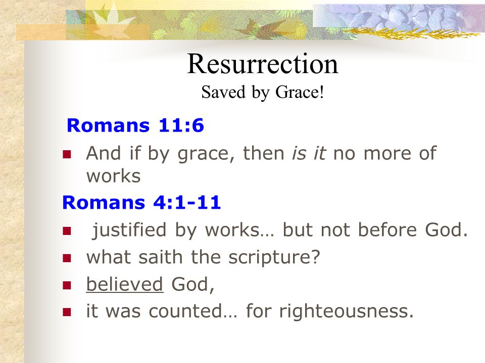 Resurrection Saved by Grace.
