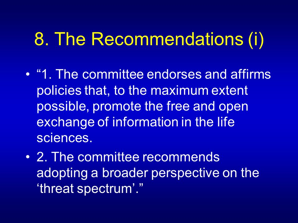9.The Recommendations (ii) 3.