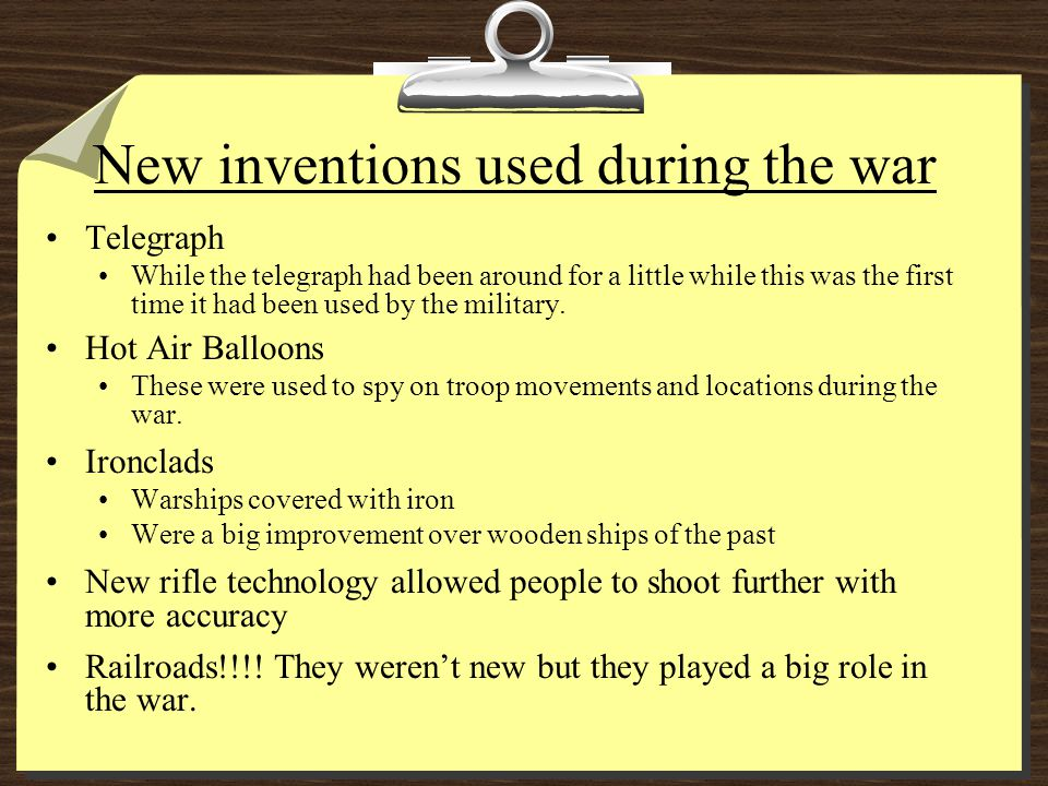 Complete the following analogy ________________ was to the Revolutionary War as _________________ was to the Civil War.
