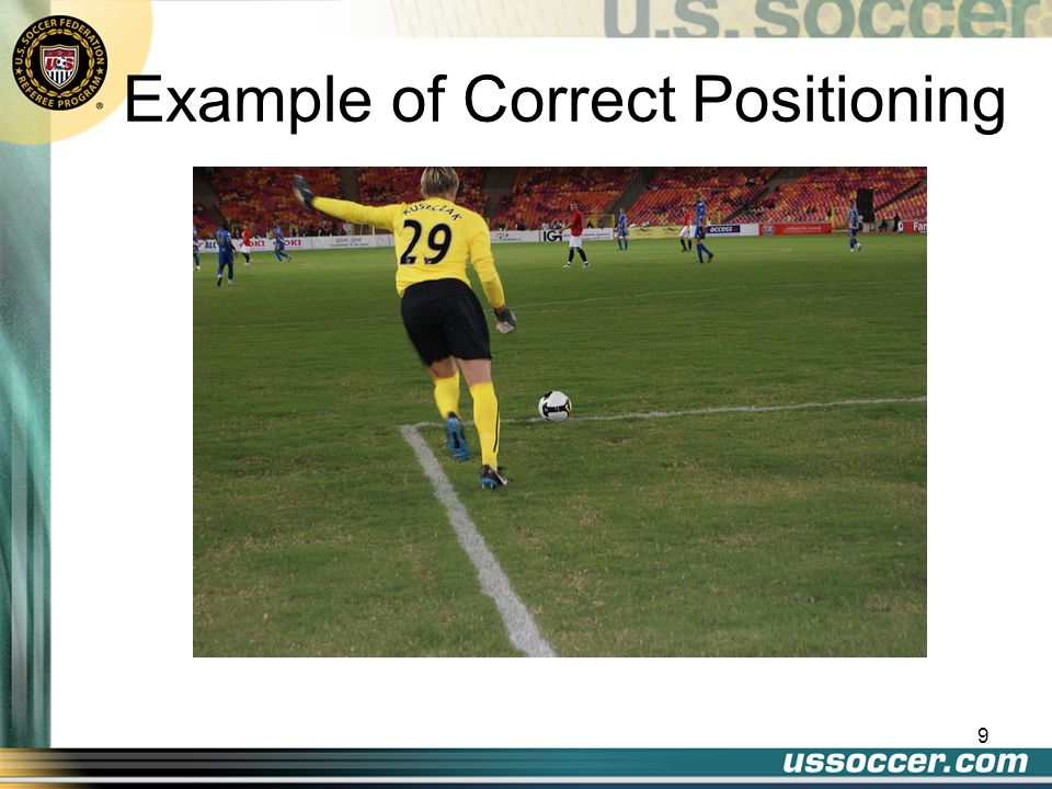 Example of Correct Positioning 9