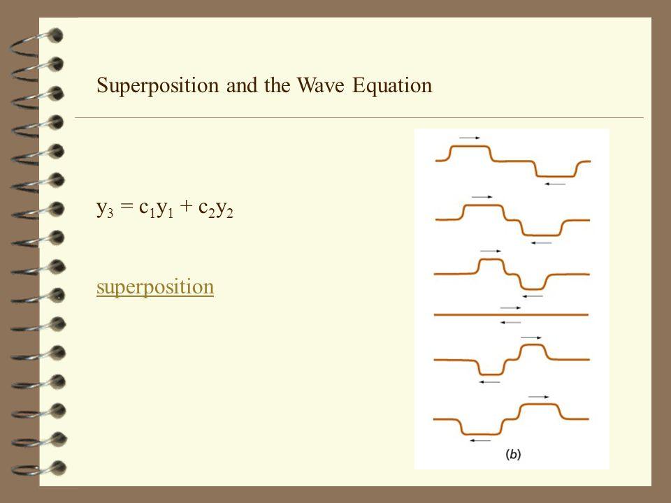 Superposition and the Wave Equation y 3 = c 1 y 1 + c 2 y 2 superposition