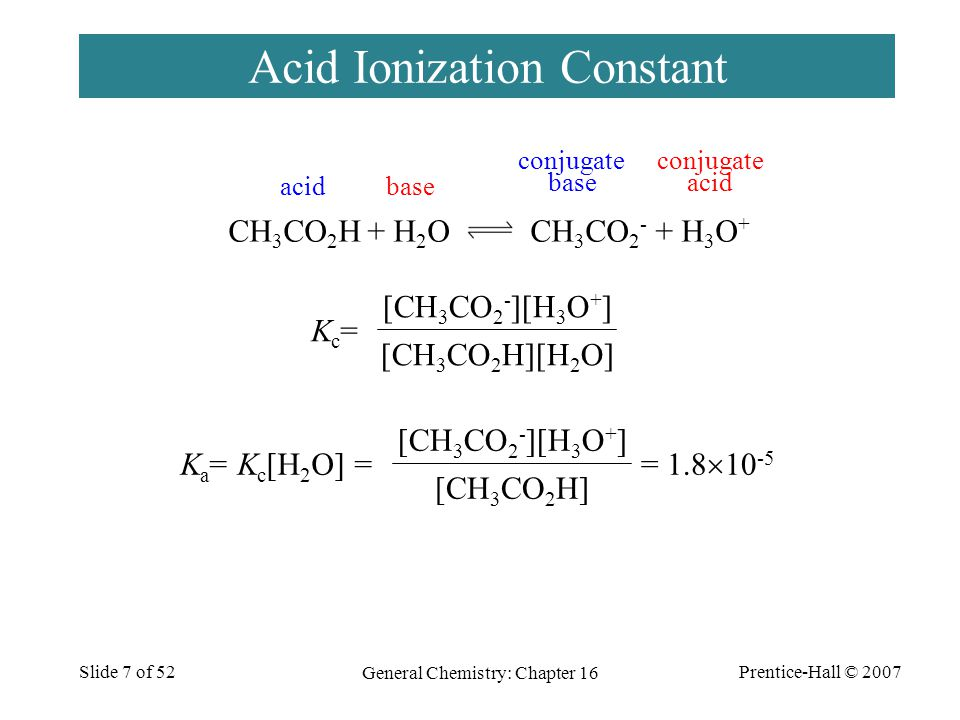 Prentice-Hall © 2007 General Chemistry: Chapter 16 Slide 28 of 52