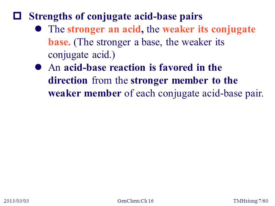GenChem Ch 162013/03/03TMHsiung 58/60  Hydrolysis of hydrated metal ion Lewis base Lewis acid