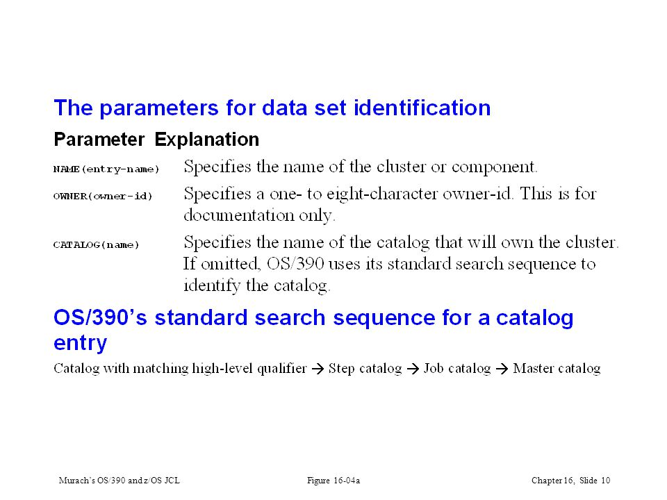 Murach's OS/390 and z/OS JCLChapter 16, Slide 10 Figure 16-04a