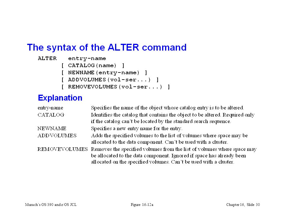Murach's OS/390 and z/OS JCLChapter 16, Slide 30 Figure 16-12a