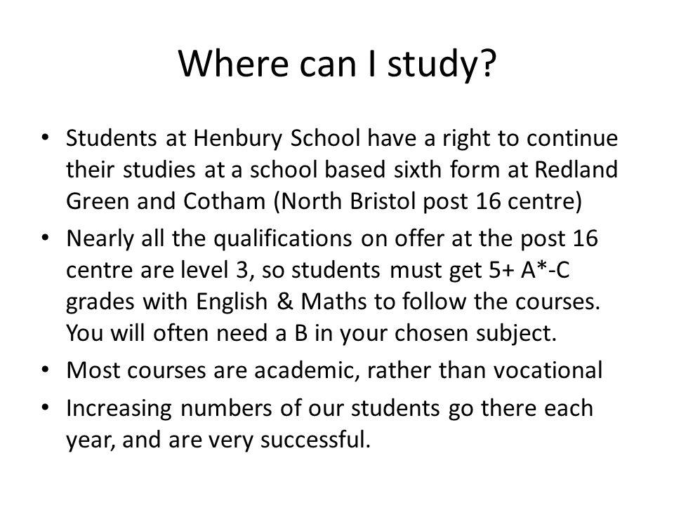 Where can I study.