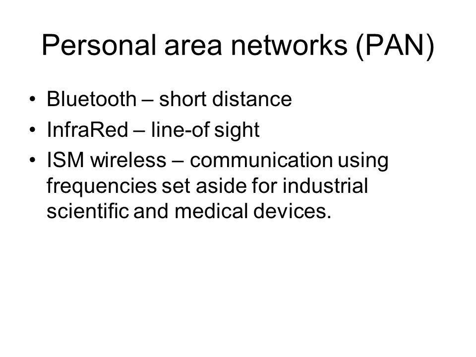 Wireless Lan Technologies and Wi- Fi Already discussed speeds and frequency bands.