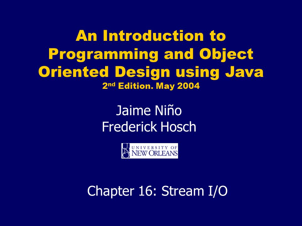An Introduction to Programming and Object Oriented Design using Java 2 nd Edition.