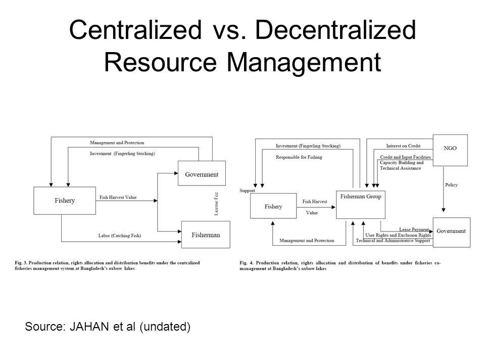 Centralized vs. Decentralized Resource Management Source: JAHAN et al (undated)