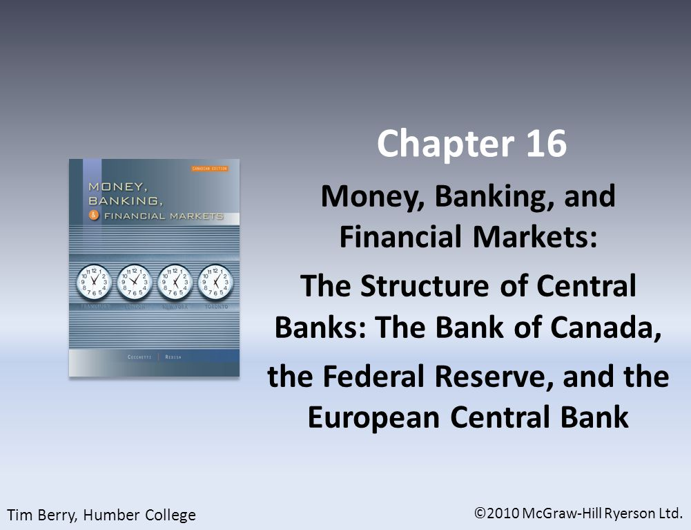 The Federal Reserve System: The Twelve Districts ©2010 McGraw-Hill Ryerson Ltd. 16-16