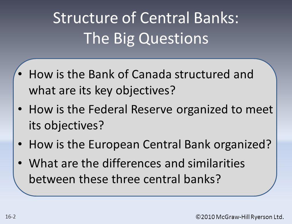 ©2010 McGraw-Hill Ryerson Ltd.Comparing ECB to B.O.C.