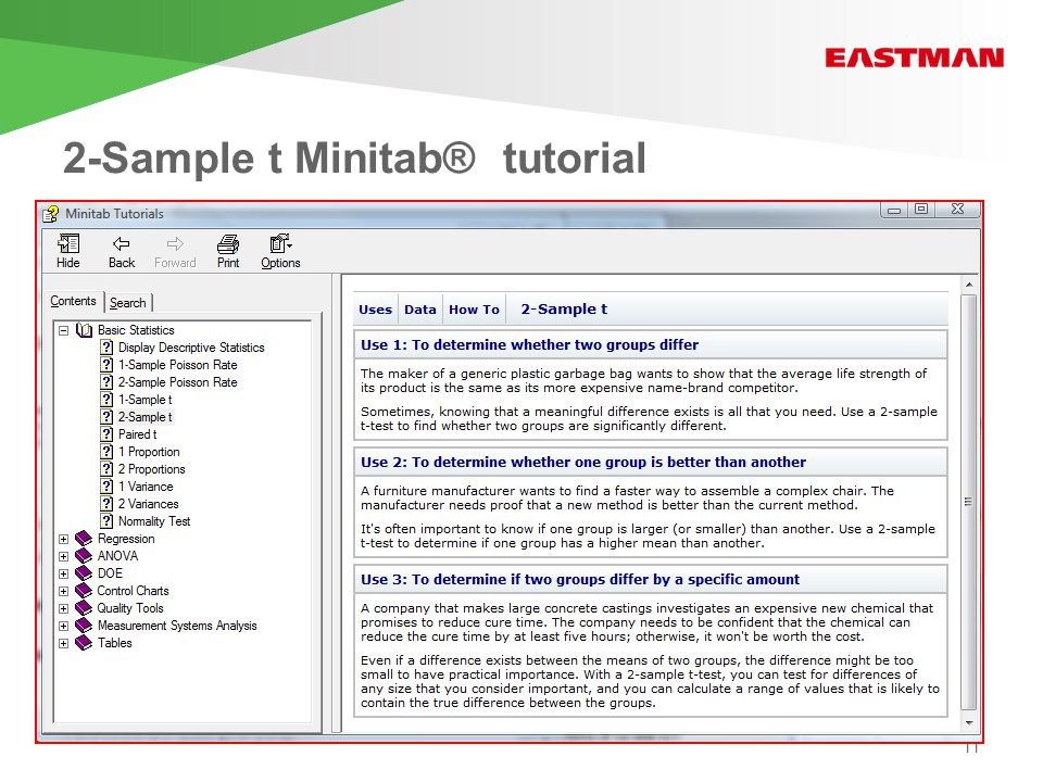 2-Sample t Minitab® tutorial 11