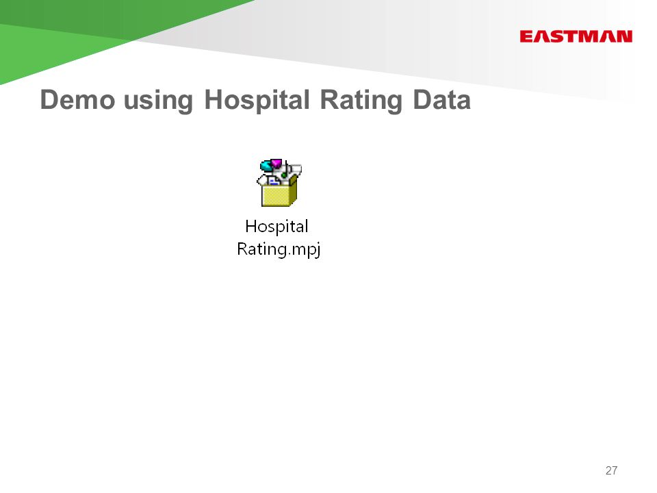 Demo using Hospital Rating Data 27