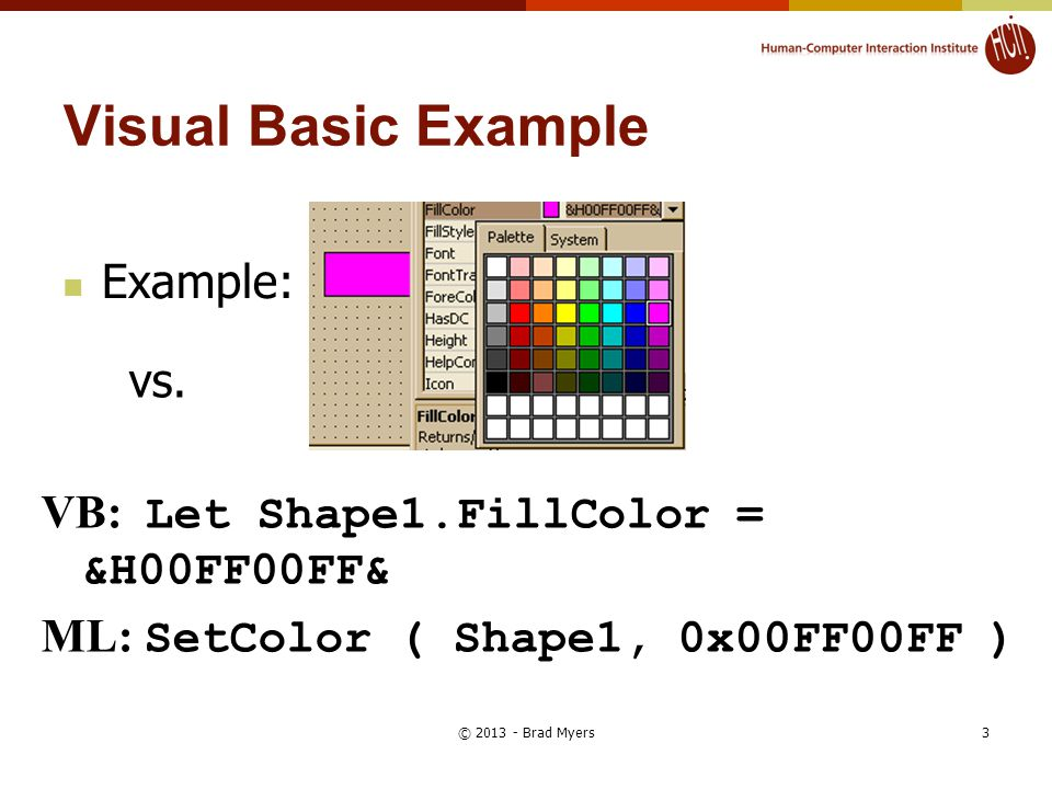 Visual Basic Example Example: vs.