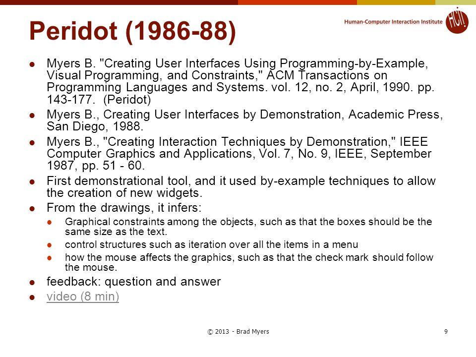 Peridot (1986-88) Myers B.