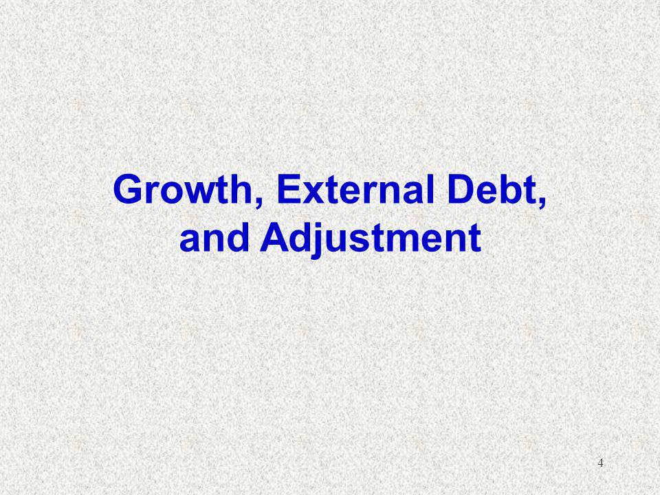4 Growth, External Debt, and Adjustment