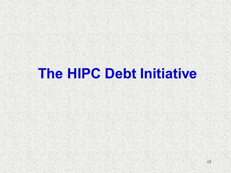 48 The HIPC Debt Initiative