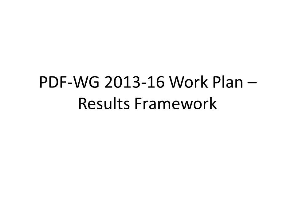 PdfWg Work Plan Development Agenda And Results Framework PdfWg