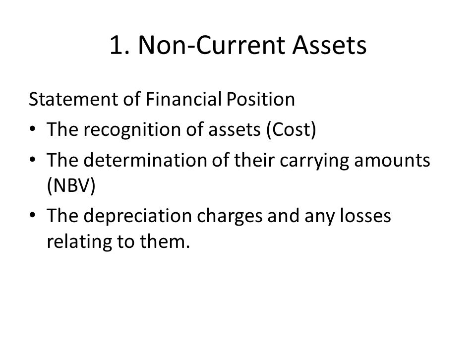 8 De-recognition When an asset is removed from the books – Disposal – No further economic benefit Gain or loss on disposal = Net sale – NBV Recognised in Stmt of P&L