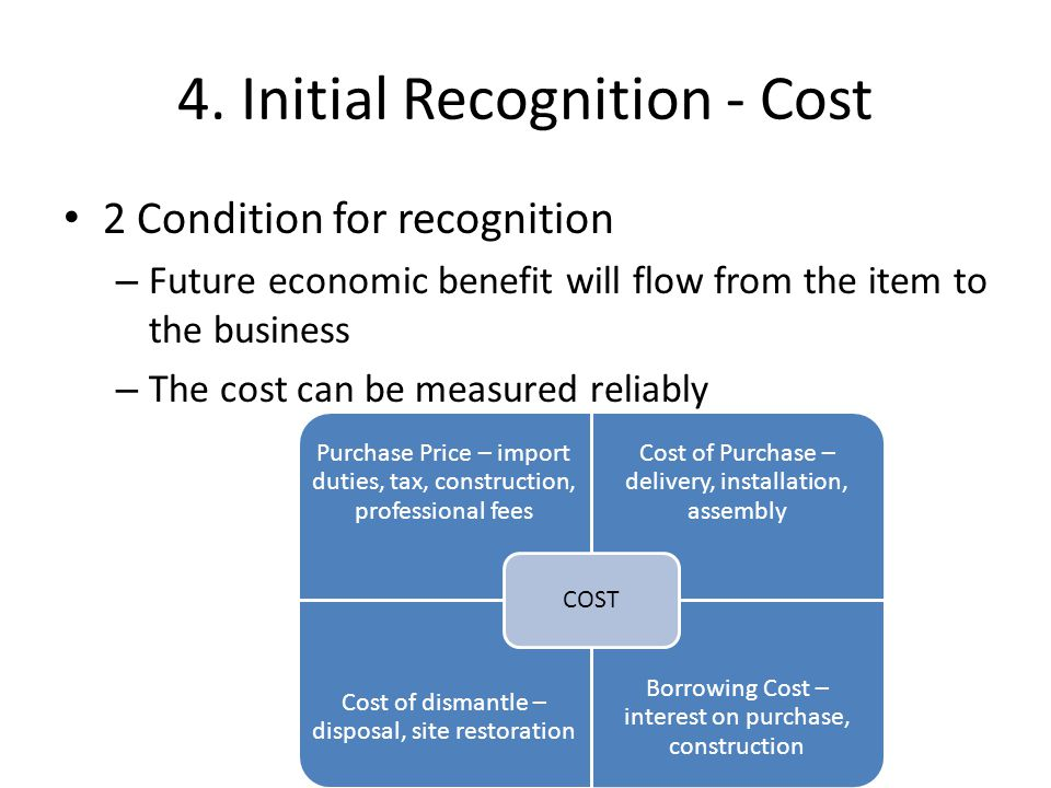 Expenses rather than cost Cannot include – cost of storage while waiting to use NCA – Initial operating losses as a result of asset output – Cost of business relocation – Design errors – Wastage – Industrial disputes